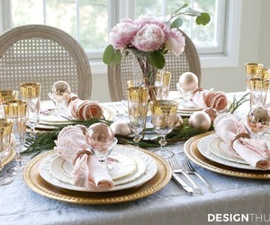 christmas, interior decorating, and dining room image