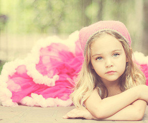 pink, child, and eyes image