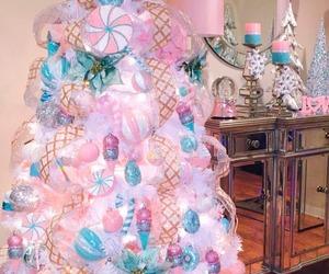 christmas tree and pink image