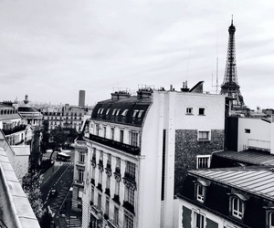 city, paris, and photograph image