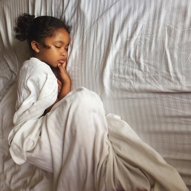 girl, baby, and sleep image