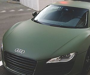 car, audi, and green image