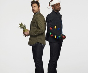 psych, shawn spencer, and burton guster image
