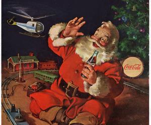 christmas, coca-cola, and santa image