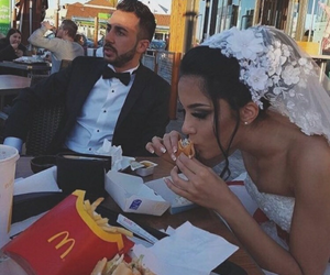 wedding, couple, and food image