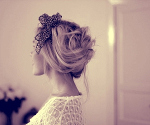 hair, bow, and fashion image