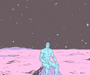 blue, watchmen, and comic image
