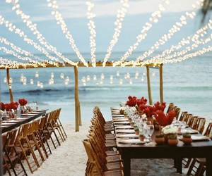 wedding, beach, and light image