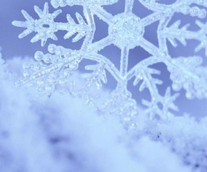 christmas, snow, and snowflake image