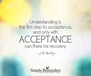 acceptance, j.k. rowling, and quotes image