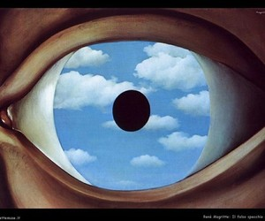 art, eye, and sky image