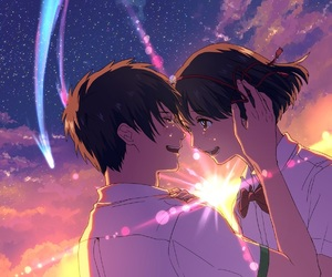 kimi no na wa and kawaii image