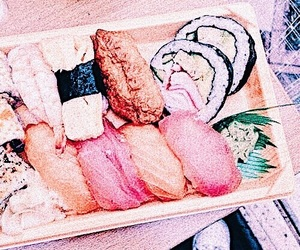 carefree, sushi, and theme image
