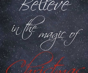 christmas, believe, and quote image