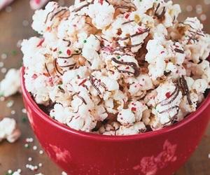 food, christmas, and popcorn image