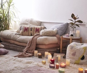 candle, cosy, and house image