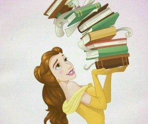 belle, book, and disney image