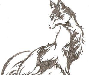 fox, sketch, and tattoo idea image