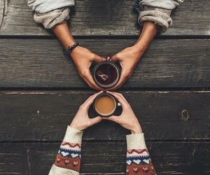 coffee, autumn, and couple image