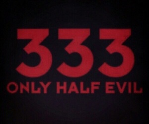 evil, 666, and red image