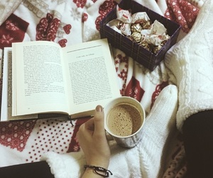 book, home, and coffe image