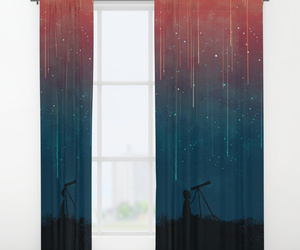 bed, curtain, and home image