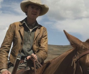 godless, horse, and western image