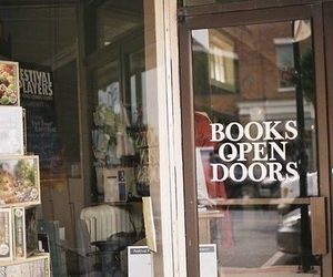 book, vintage, and door image