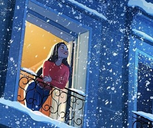 girl, winter, and cold image