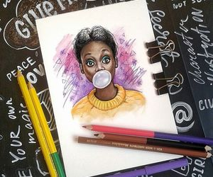 art, bubblegum, and drawing image