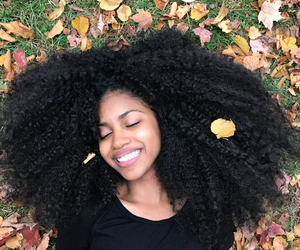 beauty, portrait, and afro hair image