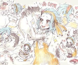 gale, fairy tail, and levy image