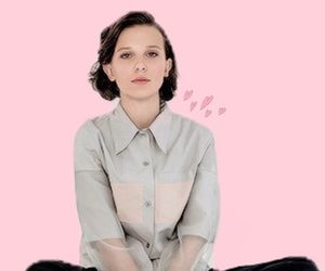 stranger things, pink, and millie bobby brown image