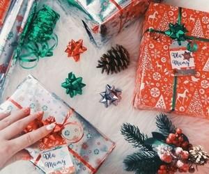 christmas, green, and holidays image