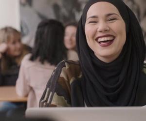 adidas, hijab, and smile image