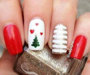 nails, christmas, and tree image