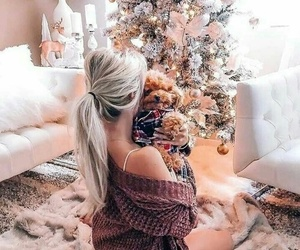 girl, winter, and christmas image