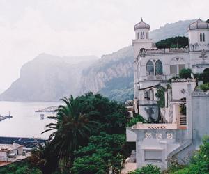house, sea, and nature image