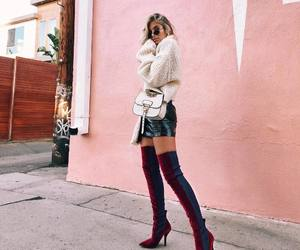 boots, girl, and style image