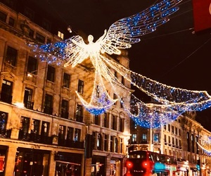 christmas, street, and lights image
