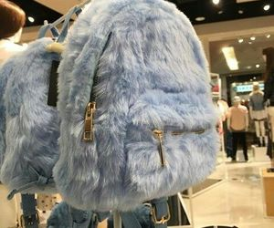 bag, blue, and backpack image