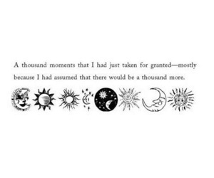 quotes, moment, and moon image