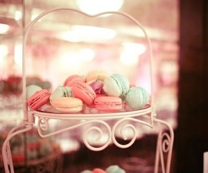 sweet, food, and macarons image