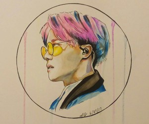 kpop, art drawing, and bts image