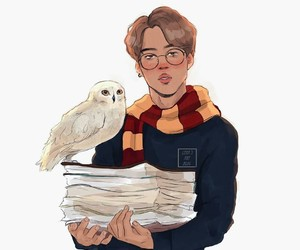 harry potter, au, and hogwarts image