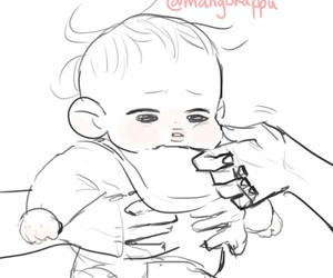 baby, kpop, and art drawing image