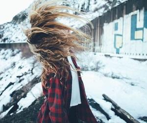 girl, snow, and fashion image