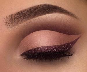 brown, eyeliner, and eye image