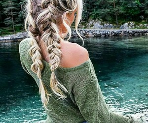 outfit, braid, and fashion image