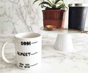 marble, plants, and cup image